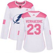 Cheap Adidas Lightning #23 Carter Verhaeghe White/Pink Authentic Fashion Women's Stitched NHL Jersey