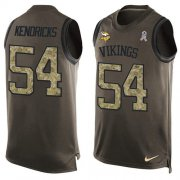 Wholesale Cheap Nike Vikings #54 Eric Kendricks Green Men's Stitched NFL Limited Salute To Service Tank Top Jersey