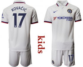 Wholesale Cheap Chelsea #17 Kovacic Away Kid Soccer Club Jersey