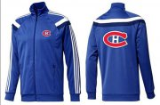 Wholesale Cheap NHL Montreal Canadiens Zip Jackets Blue-4