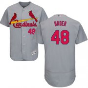 Wholesale Cheap Cardinals #48 Harrison Bader Grey Flexbase Authentic Collection Stitched MLB Jersey