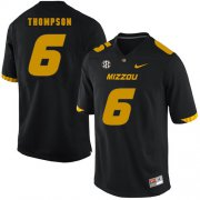 Wholesale Cheap Missouri Tigers 6 Khmari Thompson Black Nike College Football Jersey
