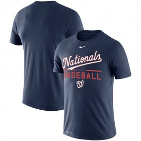 Wholesale Cheap Washington Nationals Nike Practice Performance T-Shirt Navy