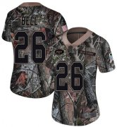 Wholesale Cheap Nike Jets #26 Le'Veon Bell Camo Women's Stitched NFL Limited Rush Realtree Jersey