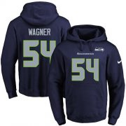 Wholesale Cheap Nike Seahawks #54 Bobby Wagner Navy Blue Name & Number Pullover NFL Hoodie