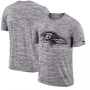 Wholesale Cheap Men's Baltimore Ravens Nike Heathered Black Sideline Legend Velocity Travel Performance T-Shirt