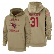 Wholesale Cheap Arizona Cardinals #31 David Johnson Nike Tan 2019 Salute To Service Name & Number Sideline Therma Pullover Hoodie