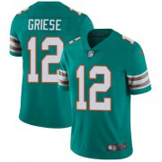 Wholesale Cheap Nike Dolphins #12 Bob Griese Aqua Green Alternate Men's Stitched NFL Vapor Untouchable Limited Jersey