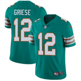 Wholesale Cheap Nike Dolphins #12 Bob Griese Aqua Green Alternate Men\'s Stitched NFL Vapor Untouchable Limited Jersey