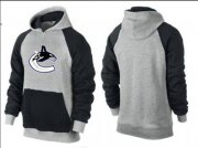 Wholesale Cheap Vancouver Canucks Pullover Hoodie Grey & Black