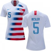 Wholesale Cheap Women's USA #5 Besler Home Soccer Country Jersey
