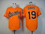 Wholesale Orioles #19 Chris Davis Orange Cool Base Stitched Baseball Jersey