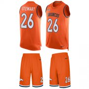 Wholesale Cheap Nike Broncos #26 Darian Stewart Orange Team Color Men's Stitched NFL Limited Tank Top Suit Jersey