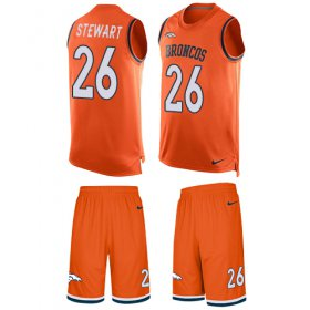 Wholesale Cheap Nike Broncos #26 Darian Stewart Orange Team Color Men\'s Stitched NFL Limited Tank Top Suit Jersey
