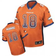 Wholesale Cheap Nike Broncos #18 Peyton Manning Orange Team Color Youth Stitched NFL Elite Drift Fashion Jersey