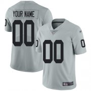 Wholesale Cheap Nike Las Vegas Raiders Customized Silver Men's Stitched NFL Limited Inverted Legend Jersey