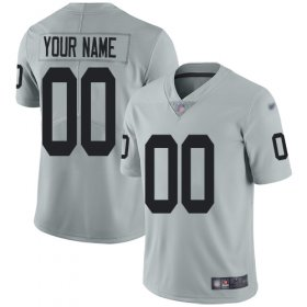Wholesale Cheap Nike Las Vegas Raiders Customized Silver Men\'s Stitched NFL Limited Inverted Legend Jersey