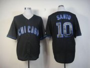 Wholesale Cubs #10 Ron Santo Black Fashion Stitched Baseball Jersey