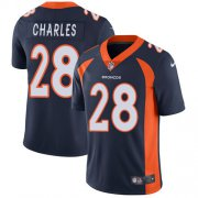 Wholesale Cheap Nike Broncos #28 Jamaal Charles Navy Blue Alternate Men's Stitched NFL Vapor Untouchable Limited Jersey
