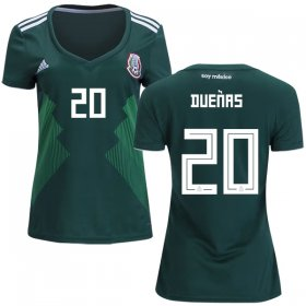 Wholesale Cheap Women\'s Mexico #20 Duenas Home Soccer Country Jersey