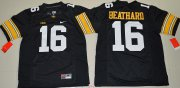 Wholesale Cheap Men's Iowa Hawkeyes #16 C. J. Beathard Black Limited Stitched College Football Nike NCAA Jersey