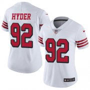 Wholesale Cheap Nike 49ers #92 Kerry Hyder White Women's Stitched NFL Limited Rush Jersey