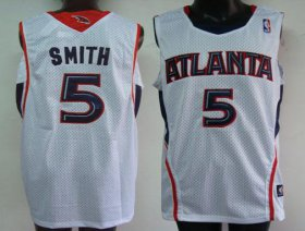 Wholesale Cheap Atlanta Hawks #5 Josh Smith White Swingman Jersey