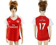 Wholesale Cheap Women's Arsenal #17 Iwobi Home Soccer Club Jersey