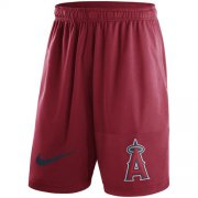 Wholesale Cheap Men's Los Angeles Angels of Anaheim Nike Red Dry Fly Shorts