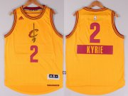Wholesale Cheap Cleveland Cavaliers #2 Kyrie Irving Revolution 30 Swingman 2014 Christmas Day Yellow Jersey