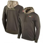 Wholesale Cheap Men's Tampa Bay Buccaneers Nike Olive Salute to Service Sideline Therma Pullover Hoodie