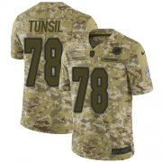 Wholesale Cheap Nike Dolphins #78 Laremy Tunsil Camo Men's Stitched NFL Limited 2018 Salute To Service Jersey