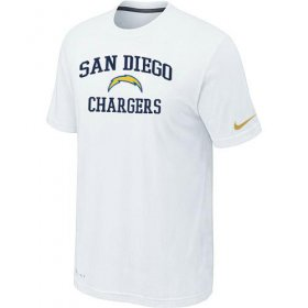 Wholesale Cheap Nike NFL Los Angeles Chargers Heart & Soul NFL T-Shirt White