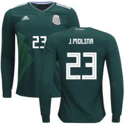 Wholesale Cheap Mexico #23 J.Molina Home Long Sleeves Soccer Country Jersey