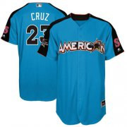 Wholesale Cheap Mariners #23 Nelson Cruz Blue 2017 All-Star American League Stitched MLB Jersey