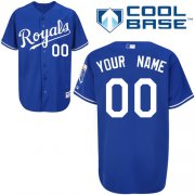 Wholesale Cheap Royals Personalized Authentic Blue Cool Base MLB Jersey (S-3XL)