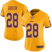 Wholesale Cheap Nike Redskins #28 Darrell Green Gold Women's Stitched NFL Limited Rush Jersey