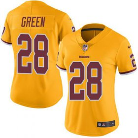 Wholesale Cheap Nike Redskins #28 Darrell Green Gold Women\'s Stitched NFL Limited Rush Jersey