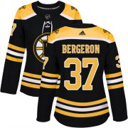 Wholesale Cheap Adidas Bruins #37 Patrice Bergeron Black Home Authentic Women's Stitched NHL Jersey