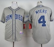 Wholesale Cheap Padres #4 Wil Myers Grey Cool Base Stitched MLB Jersey