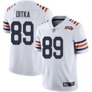 Wholesale Cheap Nike Bears #89 Mike Ditka White Alternate Men's Stitched NFL Vapor Untouchable Limited 100th Season Jersey