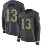 Wholesale Cheap Nike Cardinals #13 Christian Kirk Anthracite Salute to Service Women's Stitched NFL Limited Therma Long Sleeve Jersey