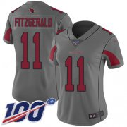 Wholesale Cheap Nike Cardinals #11 Larry Fitzgerald Silver Women's Stitched NFL Limited Inverted Legend 100th Season Jersey