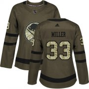 Wholesale Cheap Adidas Sabres #33 Colin Miller Green Salute to Service Women's Stitched NHL Jersey