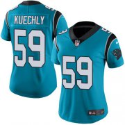 Wholesale Cheap Nike Panthers #59 Luke Kuechly Blue Women's Stitched NFL Limited Rush Jersey