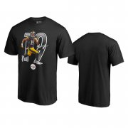 Wholesale Cheap Pittsburgh Steelers #19 JuJu Smith-Schuster Black Men's Player Graphic Powerhouse T-Shirt