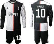 Wholesale Cheap Juventus #10 Dybala Home Long Sleeves Soccer Club Jersey