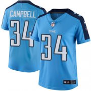 Wholesale Cheap Nike Titans #34 Earl Campbell Light Blue Women's Stitched NFL Limited Rush Jersey
