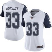 Wholesale Cheap Nike Cowboys #33 Tony Dorsett White Women's Stitched NFL Limited Rush Jersey