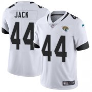 Wholesale Cheap Nike Jaguars #44 Myles Jack White Men's Stitched NFL Vapor Untouchable Limited Jersey